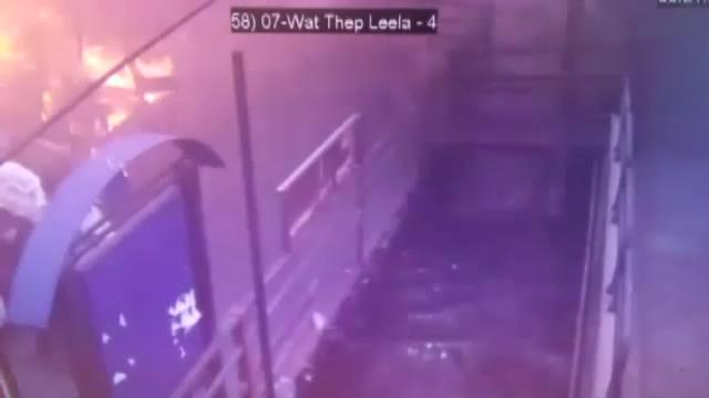 กล้องวงจรปิดบันทึกนาทีเครื่องยนต์เรือโดยสารคลองแสนแสบระเบิด