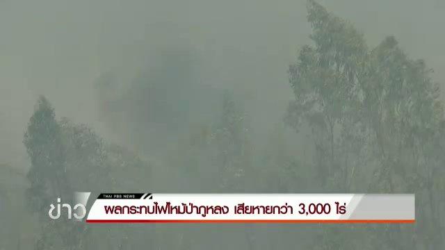 ไฟป่าท้ายเขตพุทธอุทยาน วัดป่ามหาวัน จ.ชัยภูมิ เสียหายกว่า 3,000 ไร่