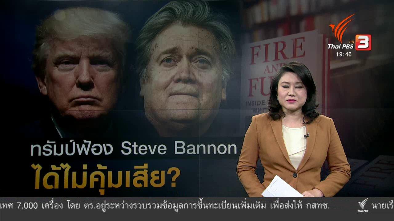 ข่าวค่ำ มิติใหม่ทั่วไทย - วิเคราะห์สถานการณ์ต่างประเทศ : ผู้นำสหรัฐฯ ขู่ฟ้องร้องอดีตหัวหน้าที่ปรึกษา