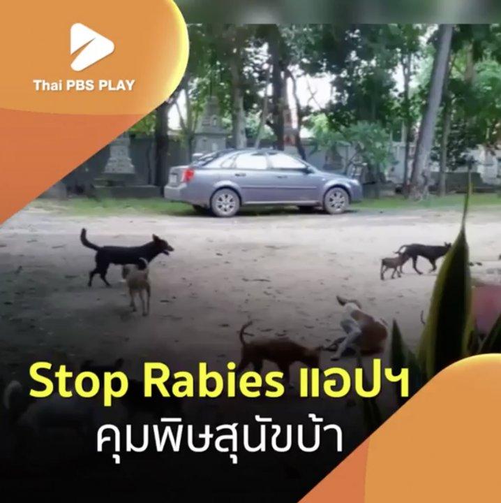 Stop Rabies แอปฯ คุมพิษสุนัขบ้า