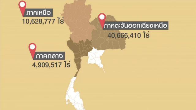 [Infographic] พื้นที่แล้งซ้ำซาก 59.9 ล้านไร่