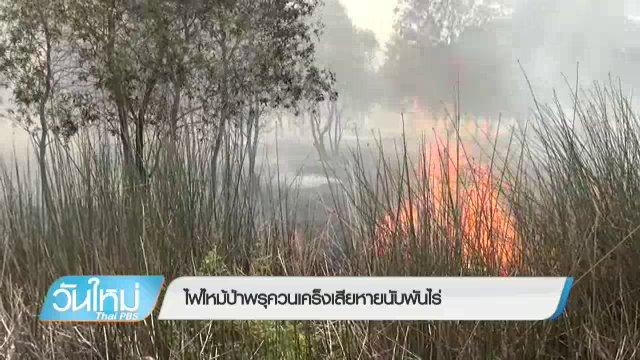 ไฟไหม้ป่าพรุควนเคร็ง จ.นครศรีธรรมราช เสียหายเกือบ 1,000 ไร่