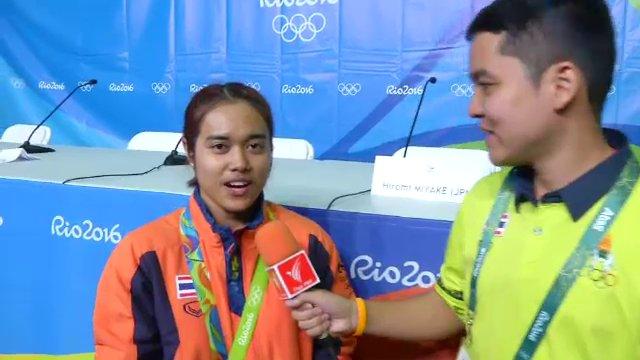 """สัมภาษณ์ """"น้องแนน"""" โสภิตา ธนสาร นักยกน้ำหนักเหรียญทองโอลิมปิก"""