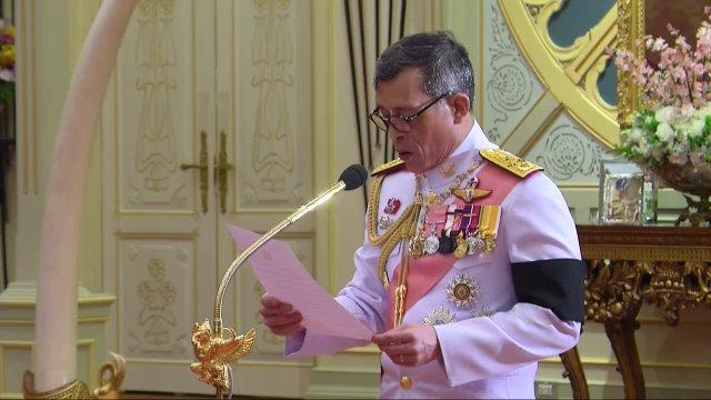 พระราชดำรัสตอบรับขึ้นทรงราชย์เป็นพระมหากษัตริย์ รัชกาลที่ 10
