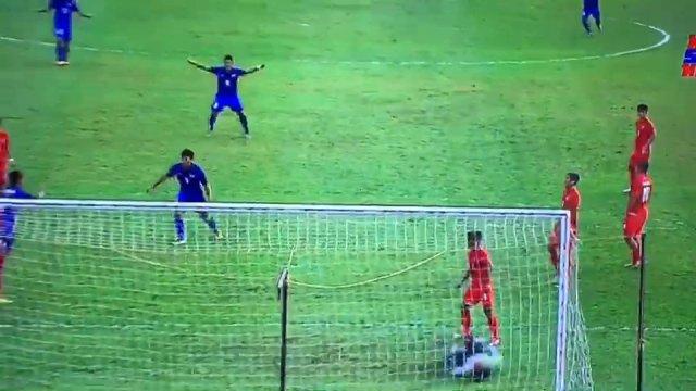 """""""เจนรบ"""" ฮีโร่ซัดช่วงทดเจ็บช่วยไทย ชนะ เมียนมา 1-0 เข้าชิงฯ ฟุตบอลซีเกมส์"""