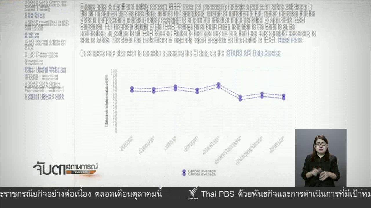 จับตาสถานการณ์ - กพท. รายงานกรณีไทยถูกปลดธงแดงให้นายกฯทราบ