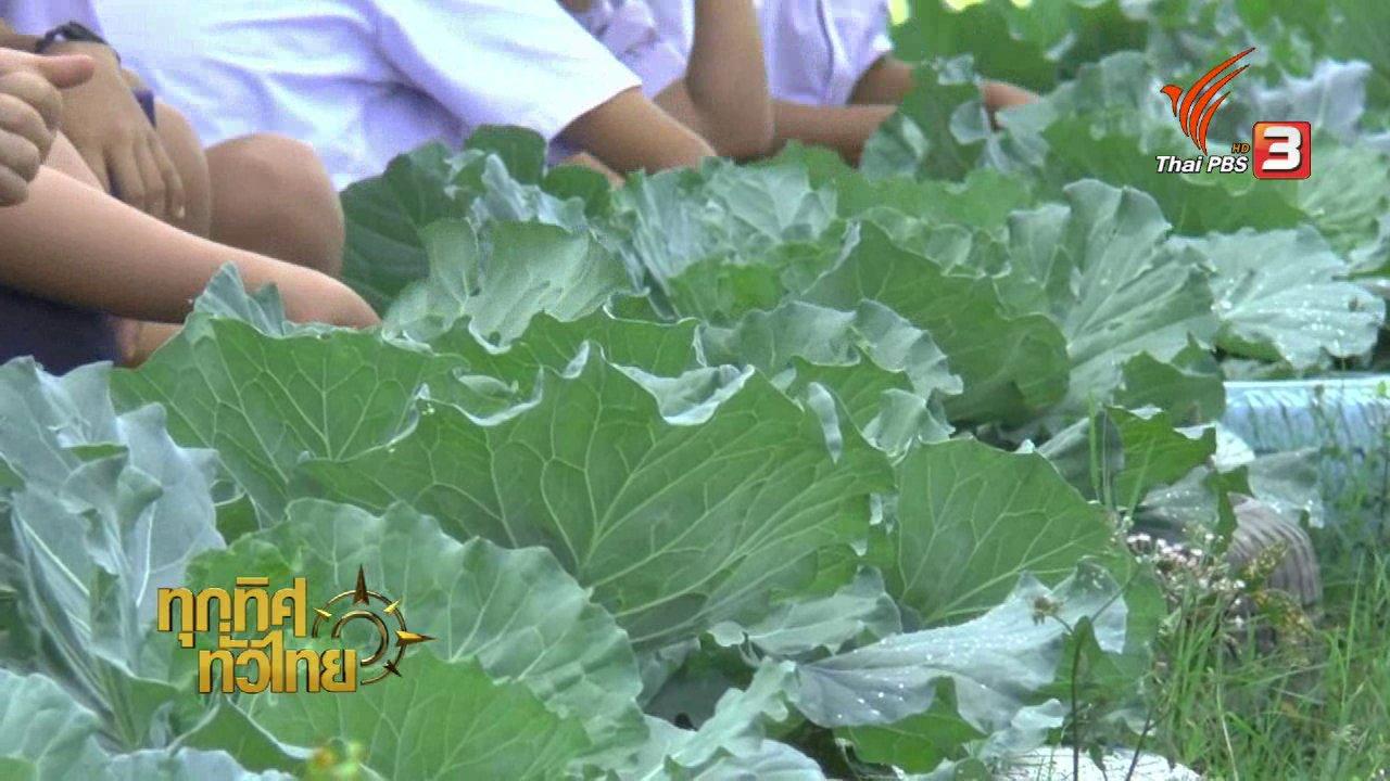 ทุกทิศทั่วไทย - นักเรียน ร.ร.อนุบาลภูกามยาวปลูกผักไร้สารพิษ
