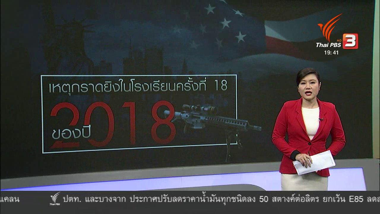 ข่าวค่ำ มิติใหม่ทั่วไทย - วิเคราะห์สถานการณ์ต่างประเทศ : กราดยิงโรงเรียนในสหรัฐฯ เสียชีวิต 17 คน