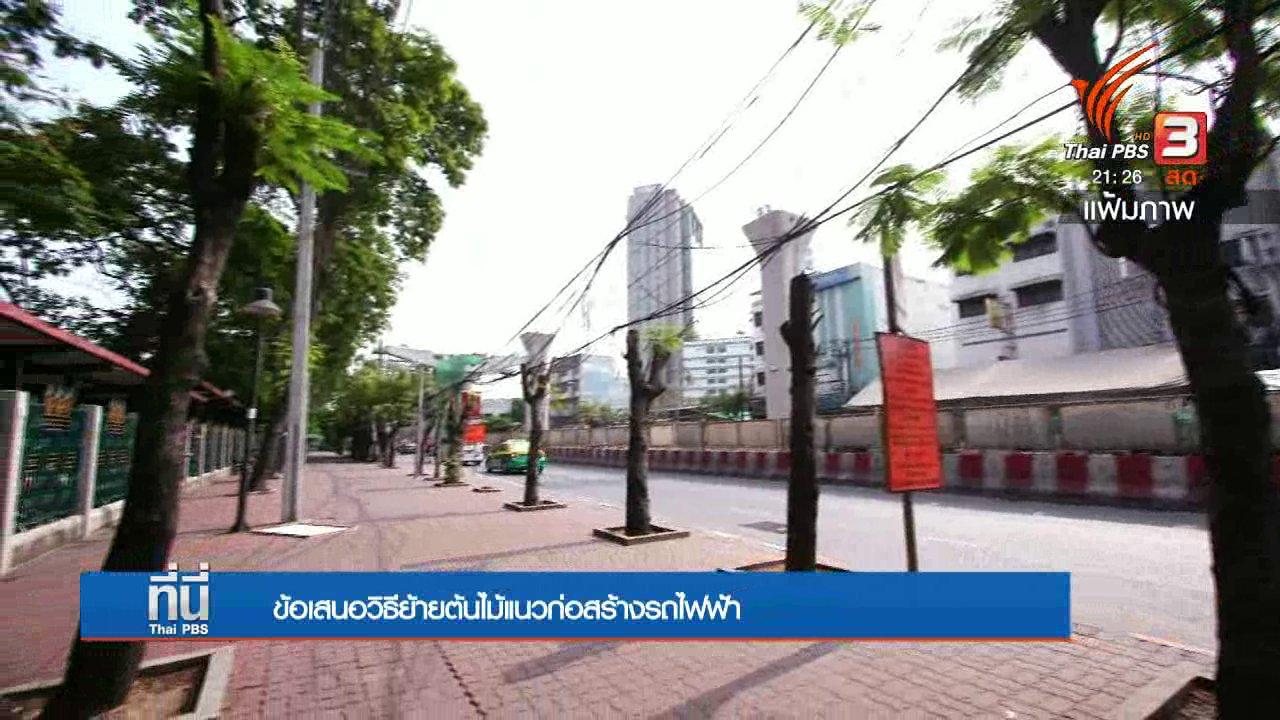 ที่นี่ Thai PBS - ข้อเสนอวิธีย้ายต้นไม้แนวก่อสร้างรถไฟฟ้า
