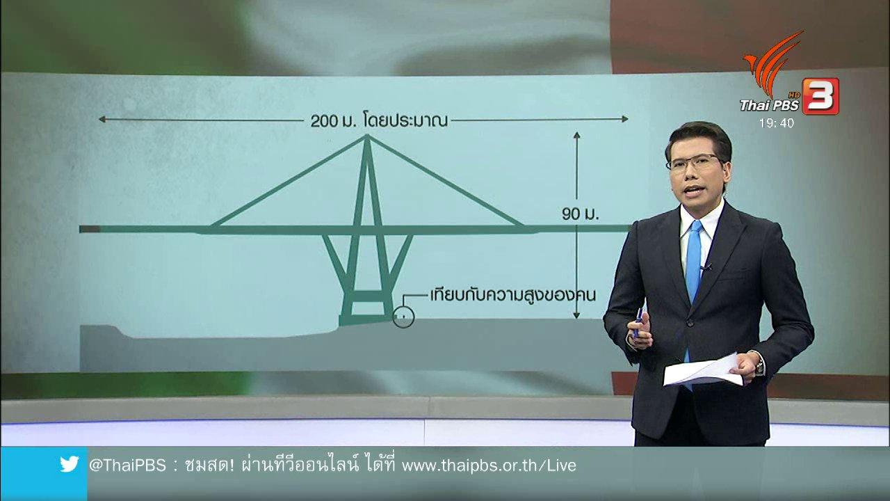 ข่าวค่ำ มิติใหม่ทั่วไทย - วิเคราะห์สถานการณ์ต่างประเทศ : เบื้องหลังสาเหตุสะพานถล่มในอิตาลี
