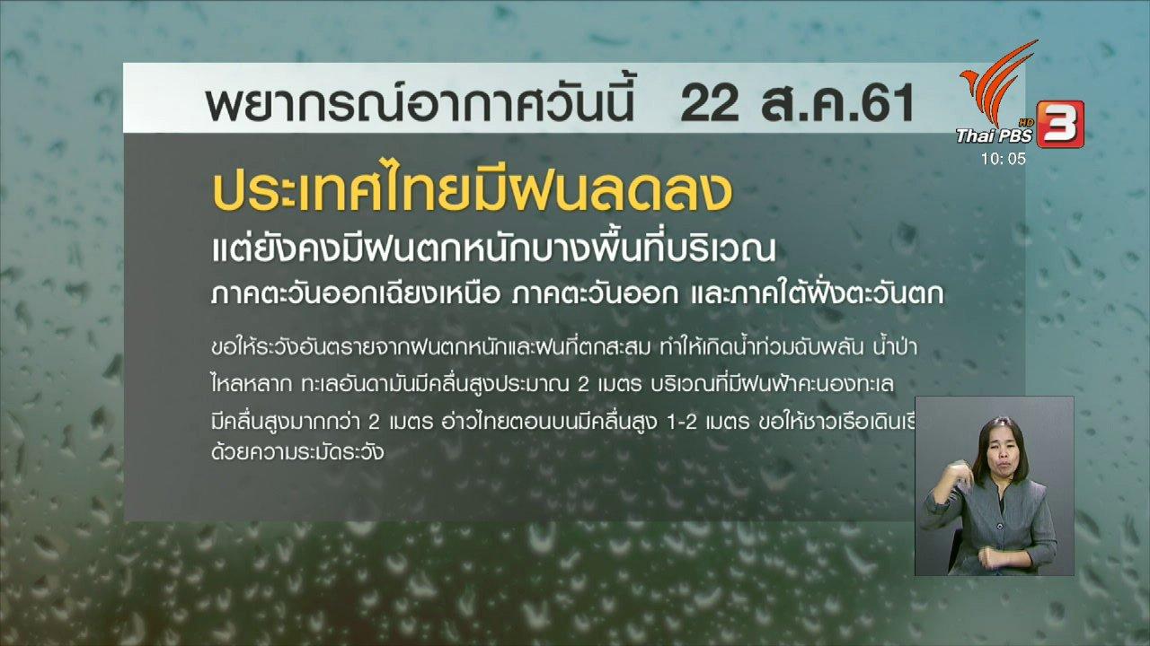 จับตาสถานการณ์ - เตือนทั่วไทยรับมือฝนตกหนักระรอกใหม่ 23 - 27 ส.ค.