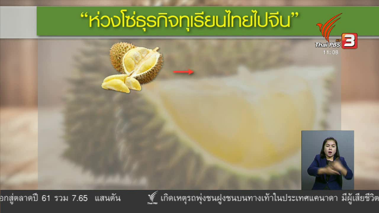 จับตาสถานการณ์ - เพิ่มช่องทางขายผลไม้ไทยผ่านเว็บไซต์ต่างประเทศ
