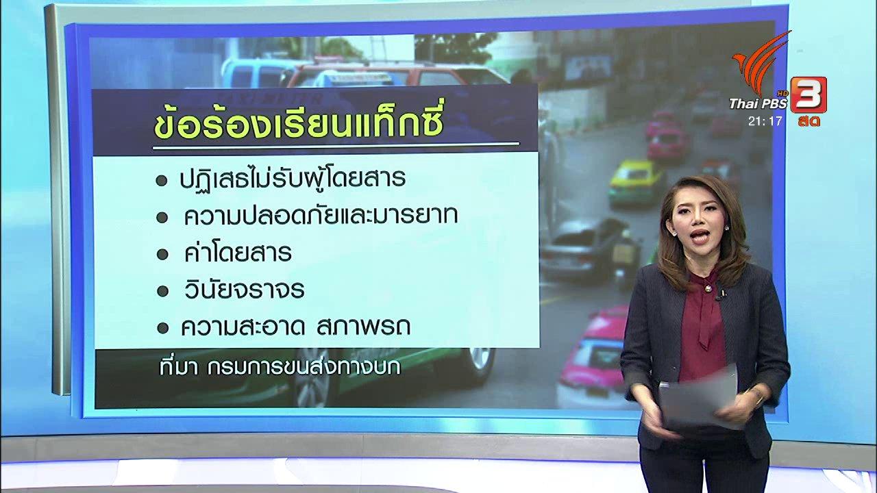 ที่นี่ Thai PBS - ไม่มั่นใจ ขึ้นค่าโดยสาร ลดปัญหาเเท็กซี่ปฏิเสธผู้โดยสาร