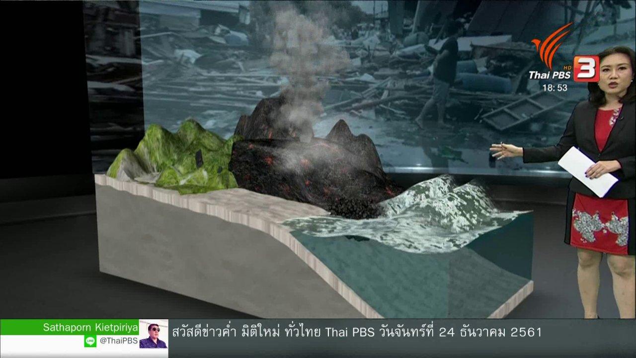 ข่าวค่ำ มิติใหม่ทั่วไทย - วิเคราะห์สถานการณ์ต่างประเทศ : สาเหตุที่ภูเขาไฟทำให้เกิดคลื่นสึนามิที่อินโดนีเซีย