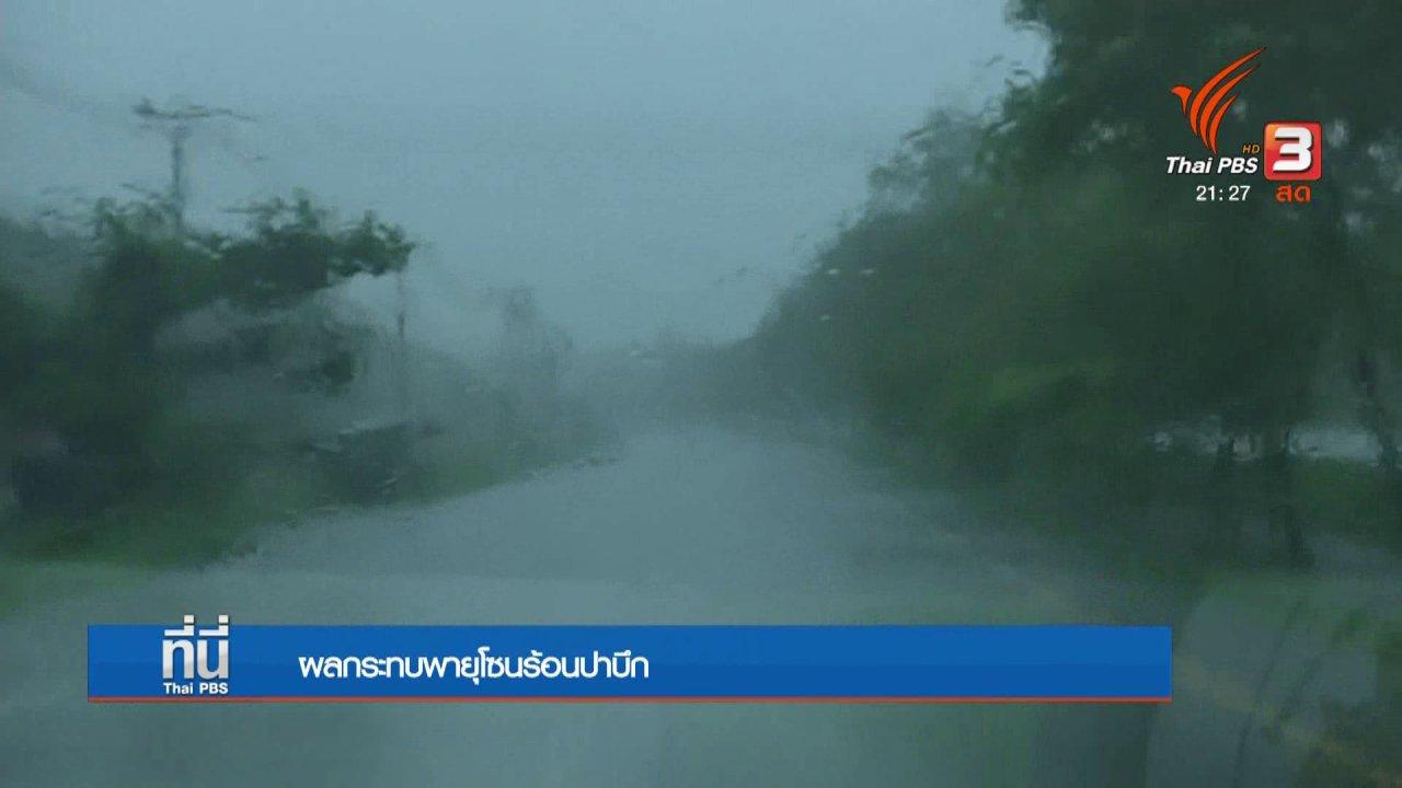 ที่นี่ Thai PBS - ผลกระทบพายุโซนร้อนปาบึก
