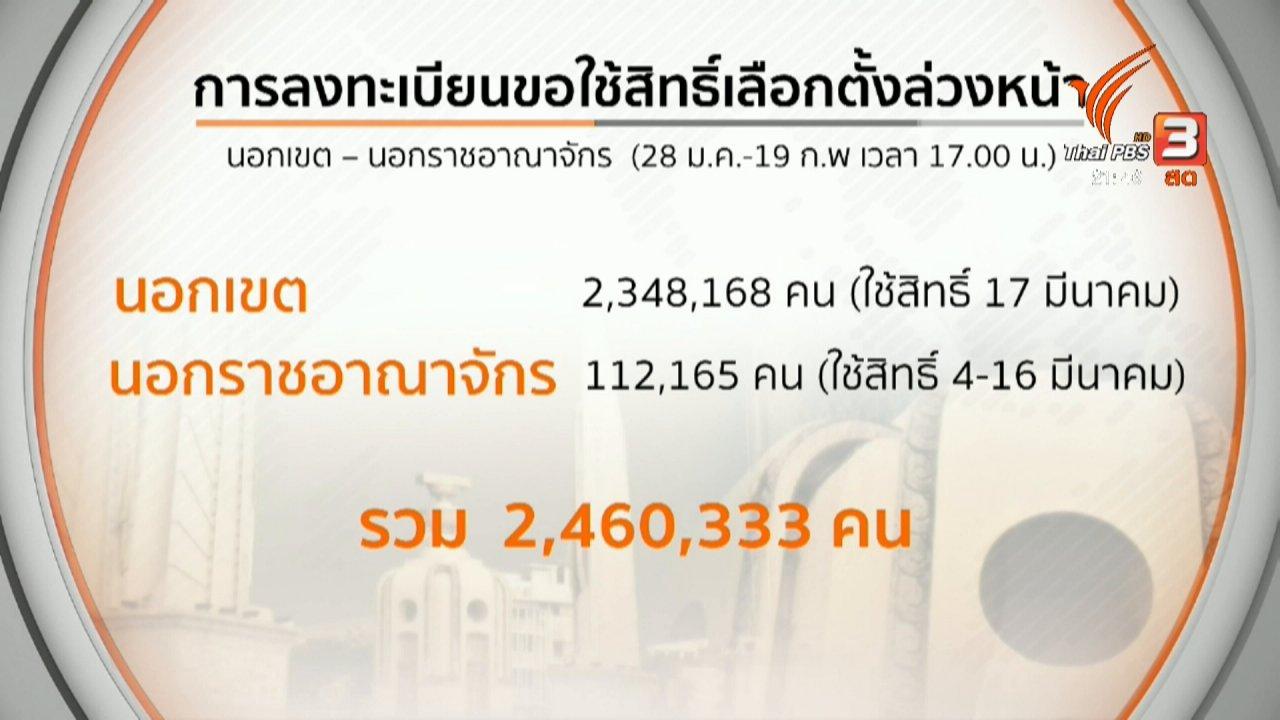 ที่นี่ Thai PBS - สรุปลงทะเบียนเลือกตั้งล่วงหน้า-นอกเขต