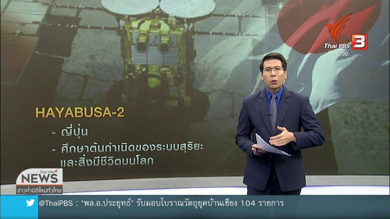 ข่าวค่ำ มิติใหม่ทั่วไทย - วิเคราะห์สถานการณ์ต่างประเทศ : วันแห่งการสำรวจอวกาศ : 2 ประเทศ 2 เป้าหมาย