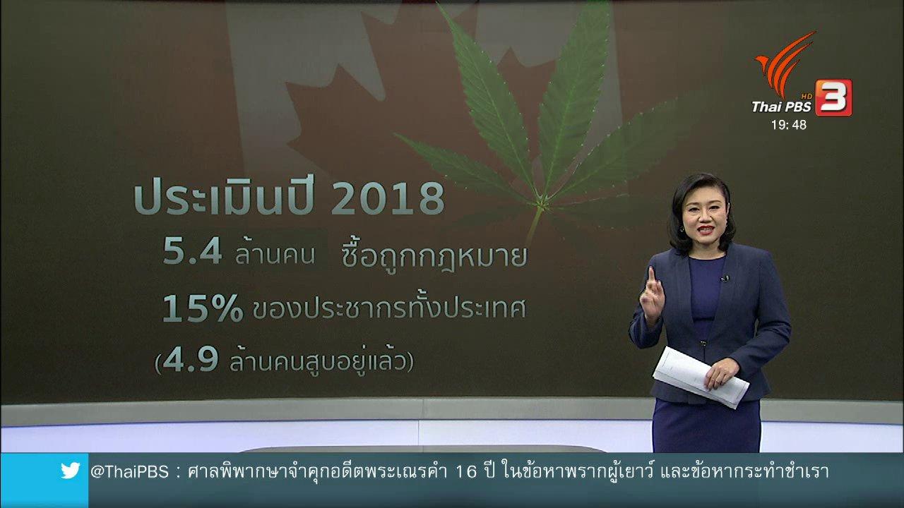 ข่าวค่ำ มิติใหม่ทั่วไทย - วิเคราะห์สถานการณ์ต่างประเทศ : แคนาดาไฟเขียวให้กัญชาถูกกฎหมาย