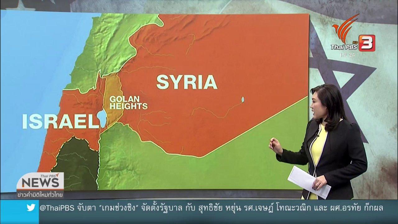 ข่าวค่ำ มิติใหม่ทั่วไทย - วิเคราะห์สถานการณ์ต่างประเทศ : ทรัมป์จุดชนวน ปัญหาที่ราบสูงโกลัน