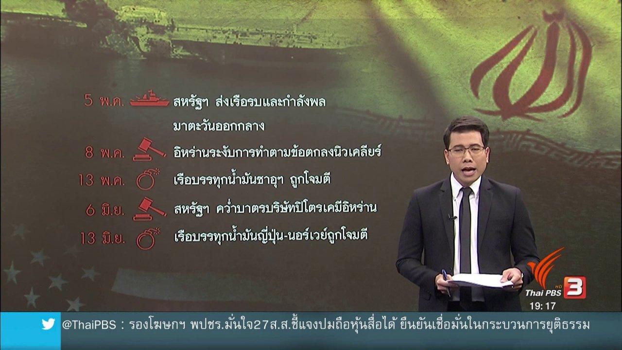 ข่าวค่ำ มิติใหม่ทั่วไทย - วิเคราะห์สถานการณ์ต่างประเทศ : จับตาความตึงเครียดสหรัฐฯ - อิหร่าน กระทบโลก