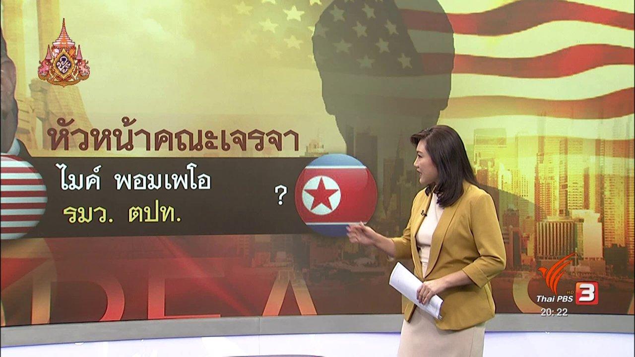 ข่าวค่ำ มิติใหม่ทั่วไทย - วิเคราะห์สถานการณ์ต่างประเทศ : สหรัฐฯ อาจปรับแนวทางเจรจาครั้งใหม่กับเกาหลีเหนือ