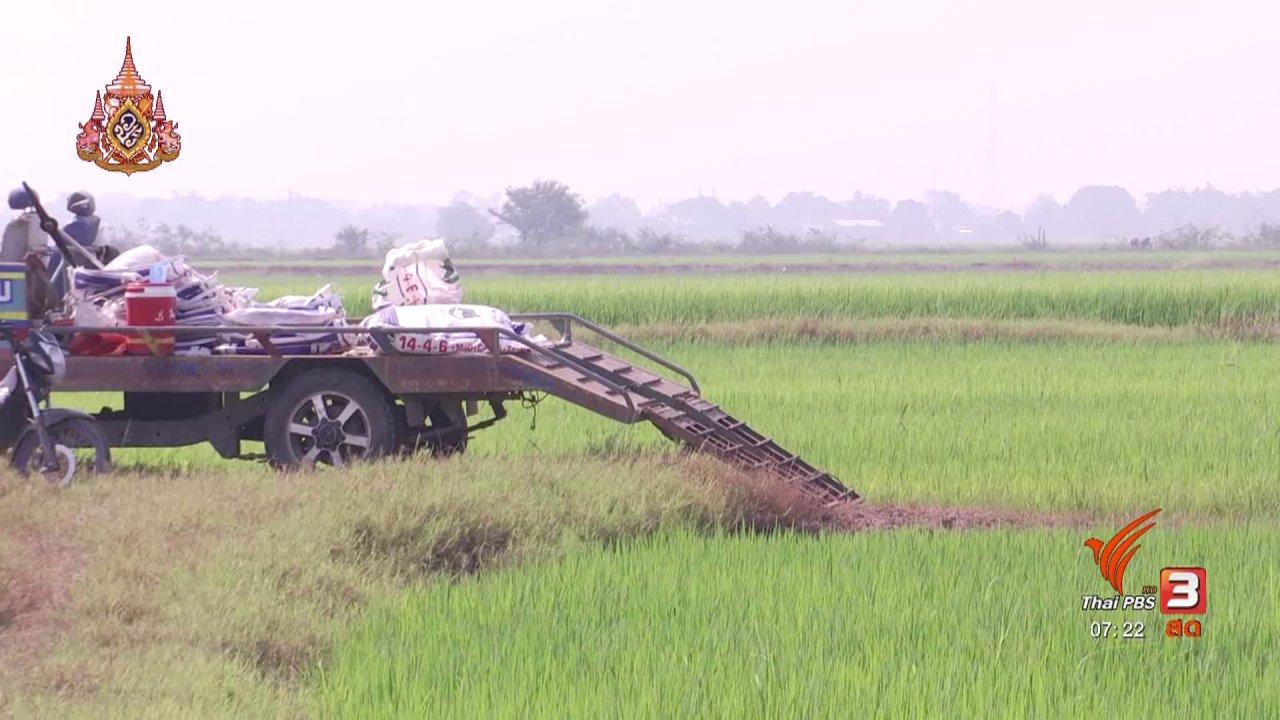 วันใหม่  ไทยพีบีเอส - ลงทุนทำกิน : ตัวแทนชาวนา - นักวิชาการ ไม่เห็นด้วยประกันรายได้