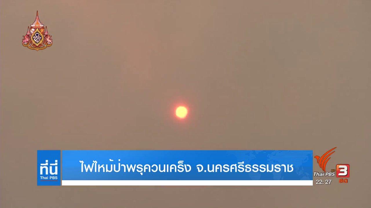 ที่นี่ Thai PBS - ไฟไหม้ป่าพรุควนเคร็ง จ.นครศรีธรรมราช