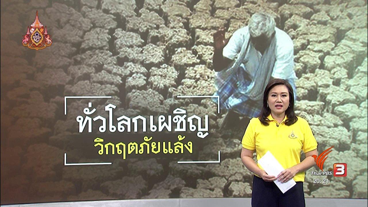 ข่าวค่ำ มิติใหม่ทั่วไทย - วิเคราะห์สถานการณ์ต่างประเทศ : ยูเอ็นเตือนทั่วโลกรับมือภัยแล้ง ที่จะเกิดขึ้นอีกหลายปี