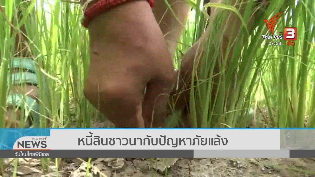 วันใหม่  ไทยพีบีเอส - ส่องความเสี่ยง : หนี้สินชาวนากับปัญหาภัยแล้ง