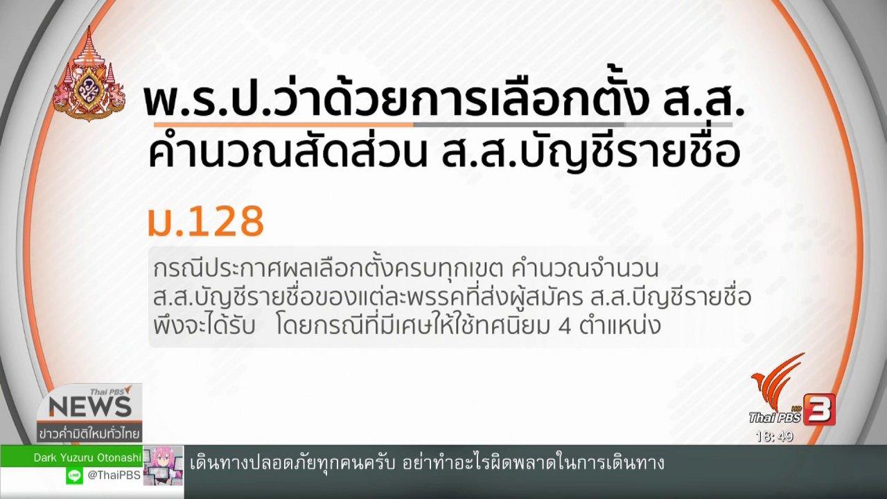 ข่าวค่ำ มิติใหม่ทั่วไทย - กกต. ยอมรับถึงทางตันส่งศาล รธน.ตีความปาร์ตี้ลิสต์