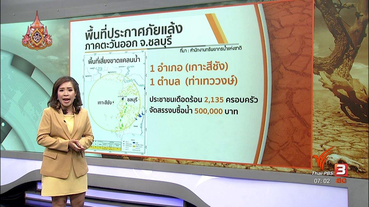 วันใหม่  ไทยพีบีเอส - รวมใจฝ่าภัยแล้ง : แก้ปัญหาน้ำท่วมน้ำแล้งภาคตะวันออก