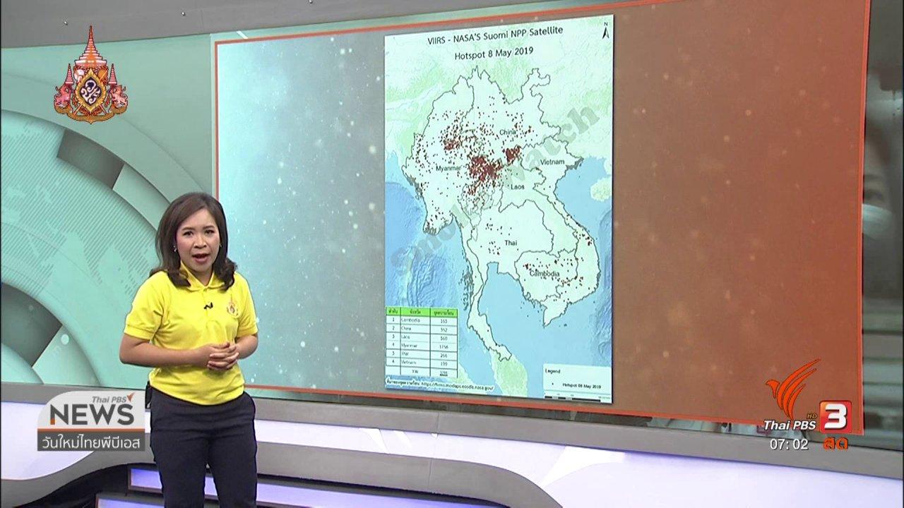 วันใหม่  ไทยพีบีเอส - ทวงคืนอากาศบริสุทธิ์ : ค่าฝุ่นเชียงรายยังเกินมาตรฐาน