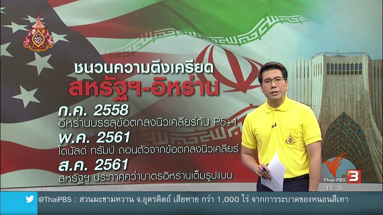 ข่าวค่ำ มิติใหม่ทั่วไทย - วิเคราะห์สถานการณ์ต่างประเทศ : ขัดแย้งสหรัฐฯ - อิหร่าน ส่อเค้าบานปลาย ?