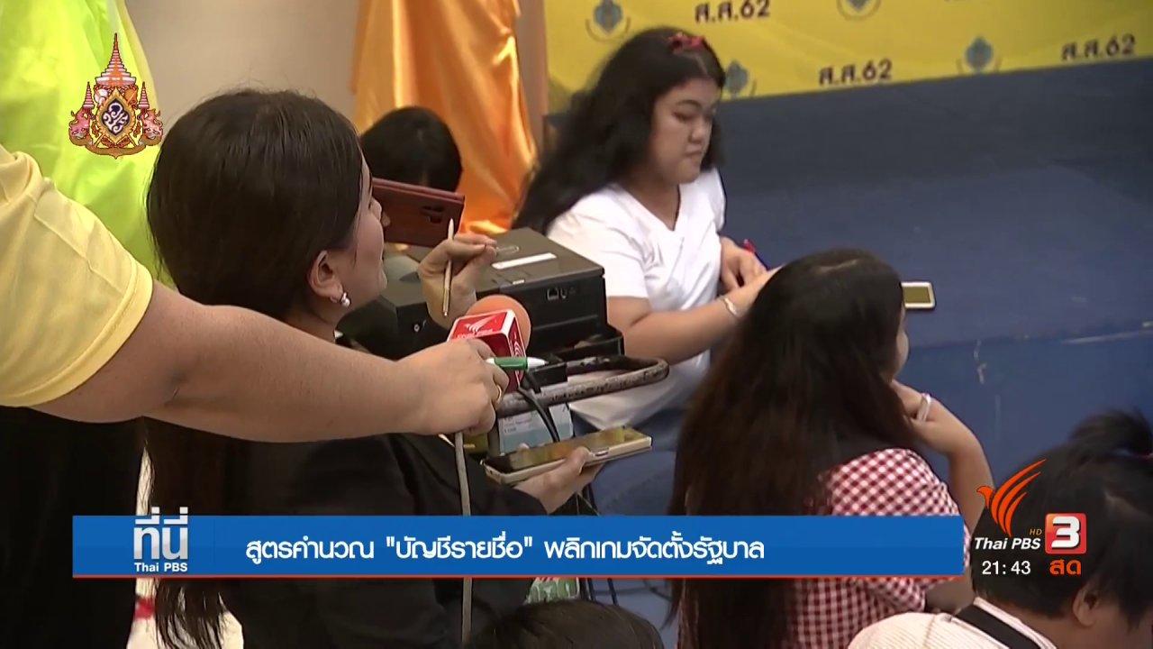 """ที่นี่ Thai PBS - สูตรคำนวณ """"บัญชีรายชื่อ"""" พลิกเกมจัดตั้งรัฐบาล"""