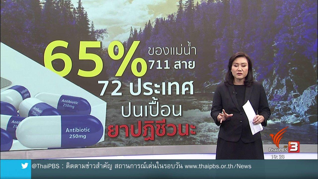 ข่าวค่ำ มิติใหม่ทั่วไทย - วิเคราะห์สถานการณ์ต่างประเทศ : สำรวจแม่น้ำทั่วโลกพบปนเปื้อนยาปฏิชีวนะ