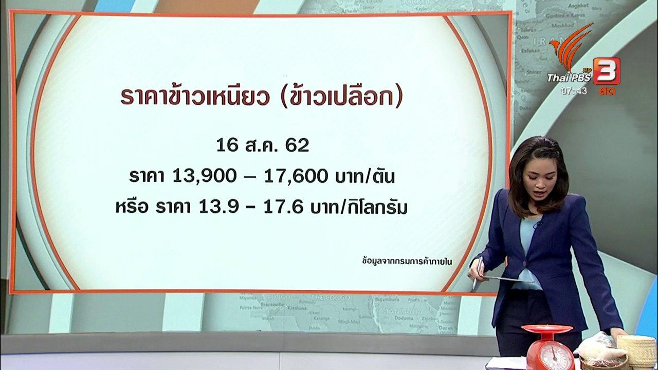 วันใหม่  ไทยพีบีเอส - C-site Report : สำรวจราคาข้าวเหนียวนึ่ง