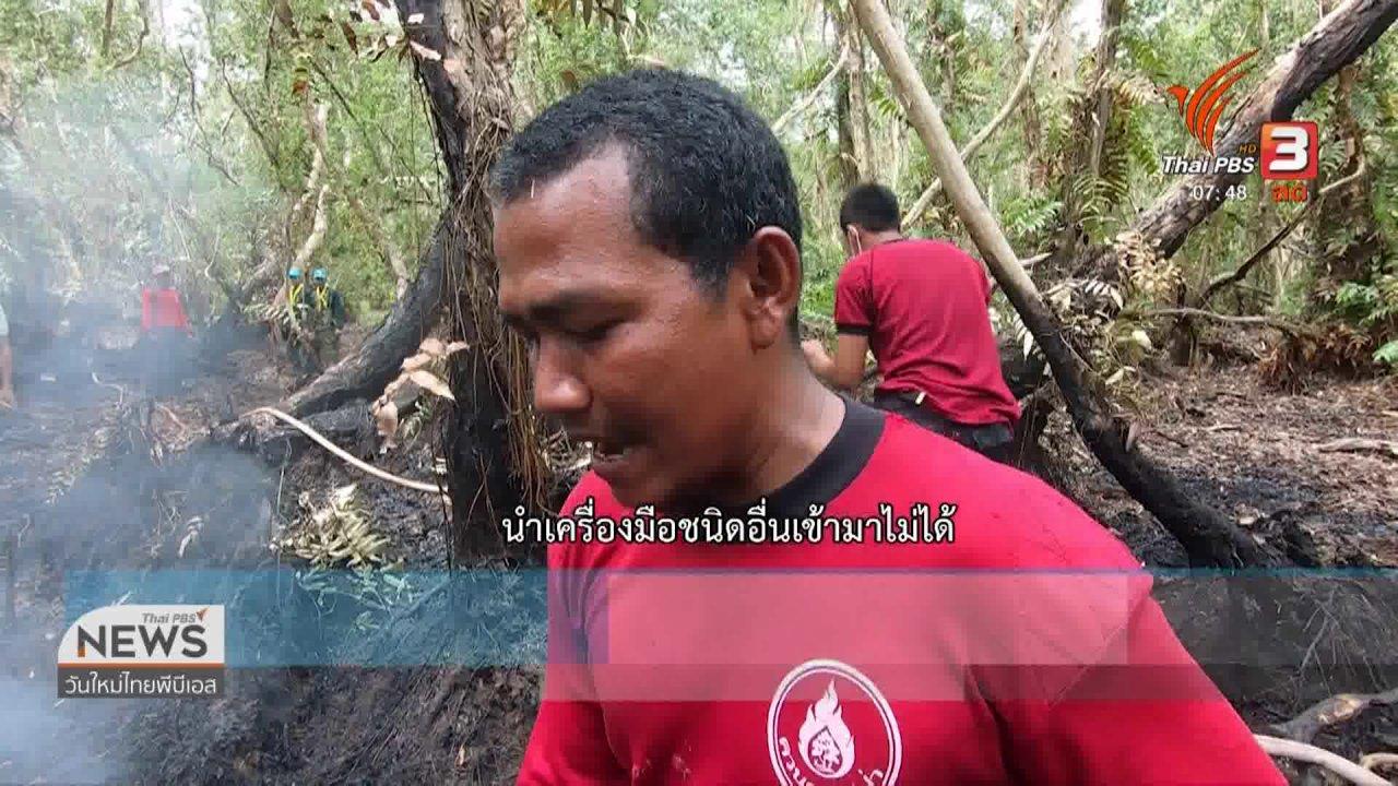 วันใหม่  ไทยพีบีเอส - C-site Report : คืบหน้าไฟไหม้ป่าพรุหัวป่าเขียว จ.พัทลุง
