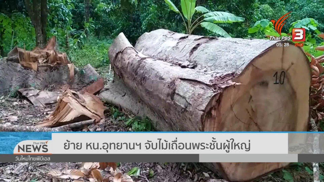 วันใหม่  ไทยพีบีเอส - ย้าย หน.อุทยานฯ จับไม้เถื่อนพระชั้นผู้ใหญ่