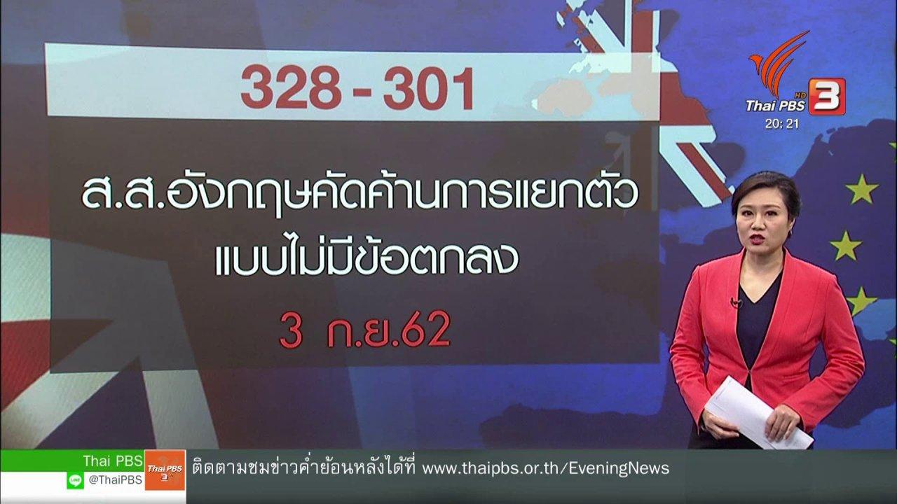 ข่าวค่ำ มิติใหม่ทั่วไทย - วิเคราะห์สถานการณ์ต่างประเทศ : ผู้นำอังกฤษเดิมพันอนาคตออกจากสหภาพยุโรป