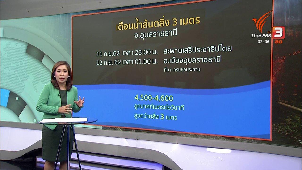 วันใหม่  ไทยพีบีเอส - ส่องความเสี่ยง : เฝ้าระวังน้ำท่วมจังหวัดอุบลราชธานียังไม่คลี่คลาย