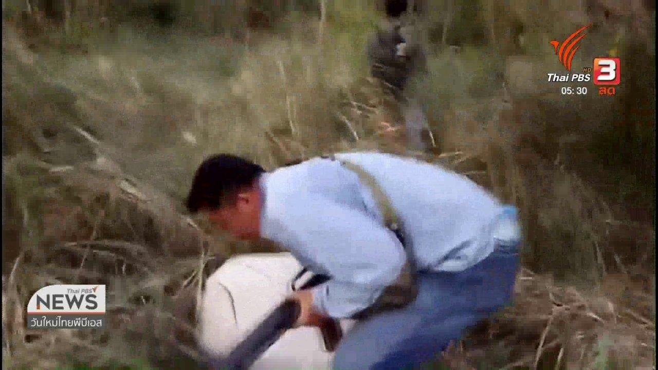 วันใหม่  ไทยพีบีเอส - ลักลอบขนใบกระท่อมชายแดนเมียนมา