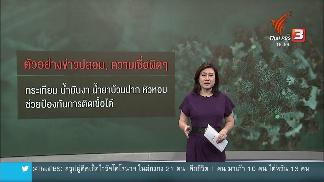 ข่าวค่ำ มิติใหม่ทั่วไทย - วิเคราะห์สถานการณ์ต่างประเทศ : ทั่วโลกร่วมสกัดข่าวปลอม ซ้ำเติมไวรัสแพร่ระบาด