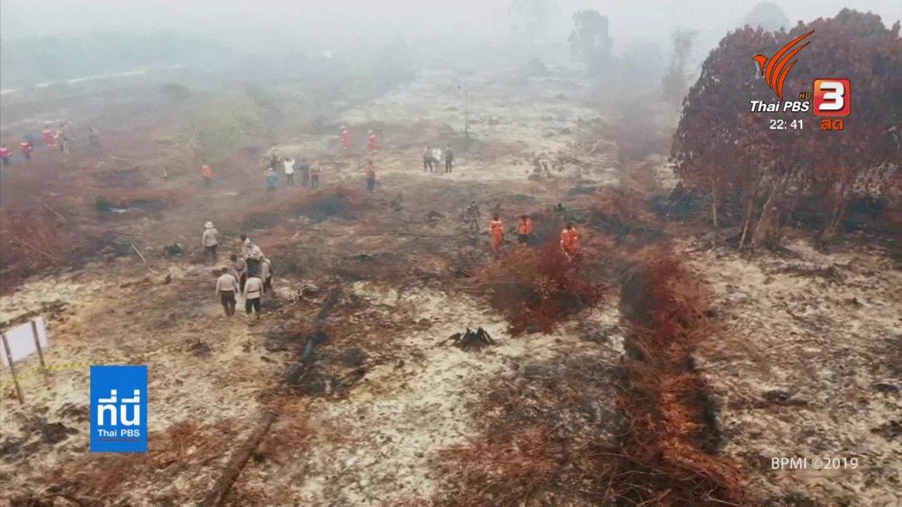 ที่นี่ Thai PBS - ควันไฟป่าอินโดนีเซียรุนแรงสุดในรอบ 4 ปี