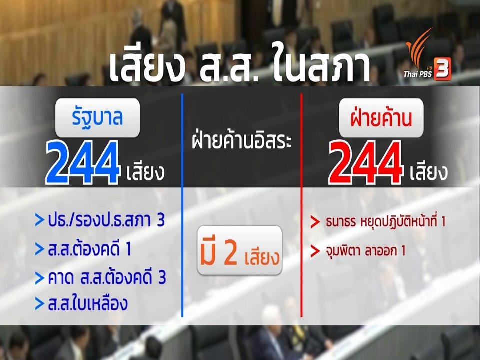 ห้องข่าว ไทยพีบีเอส NEWSROOM - กลยุทธดูด ส.ส. เกมการเมืองรัฐบาล - ฝ่ายค้าน