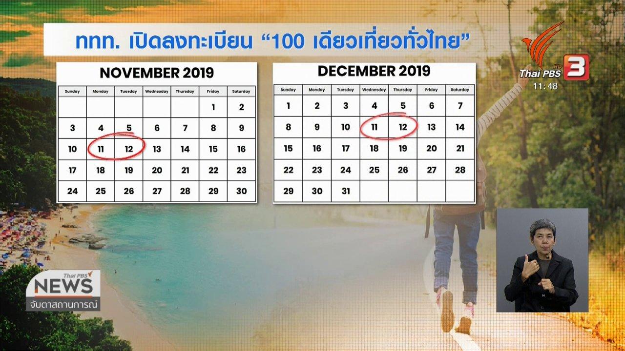จับตาสถานการณ์ - ททท.เตรียมเปิดให้ลงทะเบียน 100 เดียวเที่ยวทั่วไทย