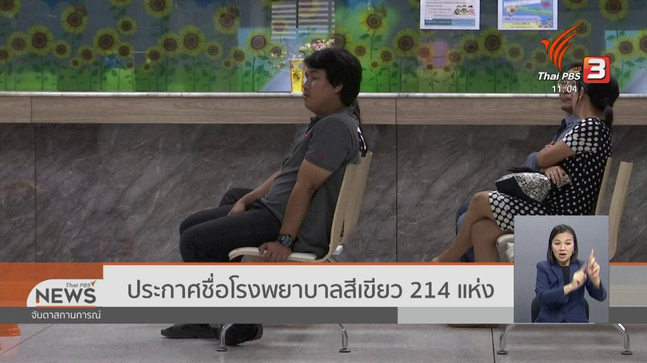 จับตาสถานการณ์ - ประกาศชื่อโรงพยาบาลสีเขียว 214 แห่ง