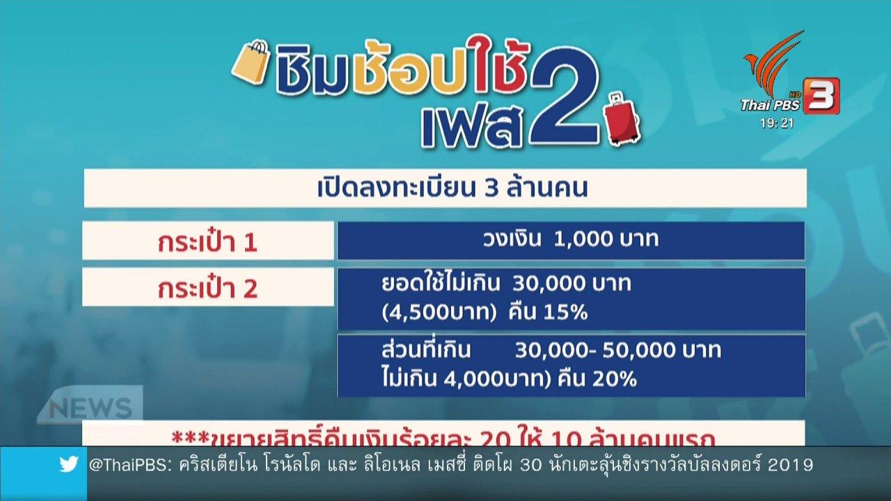 ข่าวค่ำ มิติใหม่ทั่วไทย - ครม.เคาะ ชิมช้อปใช้ เฟส2 ลงทะเบียน 24 ต.ค.