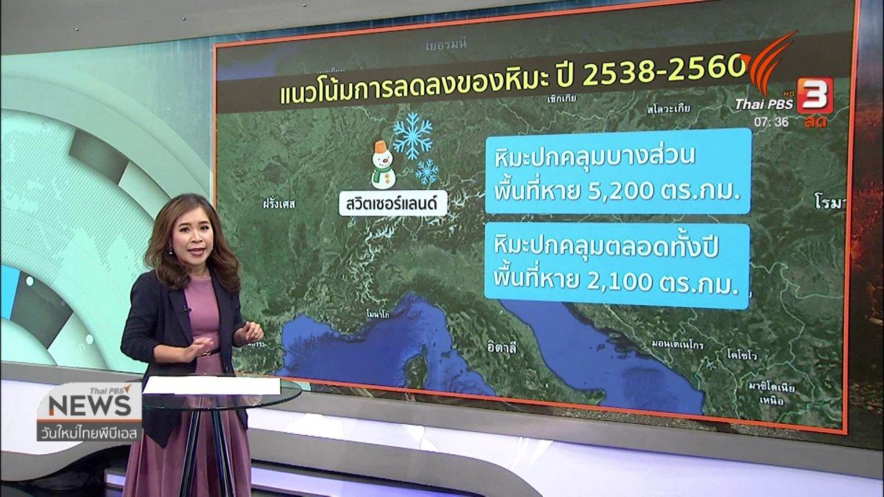 วันใหม่  ไทยพีบีเอส - ส่องความเสี่ยง : โลกร้อนกระทบภูเขาหิมะละลายและถล่มต่อเนื่อง