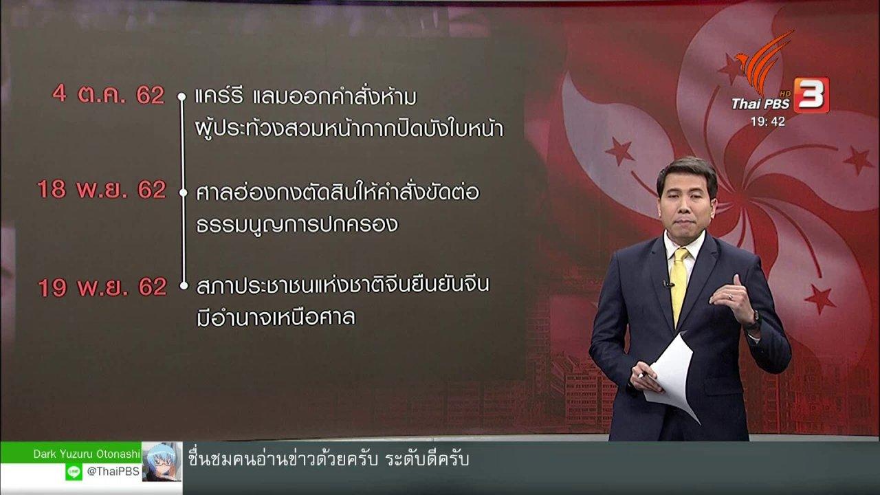ข่าวค่ำ มิติใหม่ทั่วไทย - วิเคราะห์สถานการณ์ต่างประเทศ : จีนยืนยันอยู่เหนือศาลฮ่องกง สั่นคลอน 1 ประเทศ 2 ระบบ