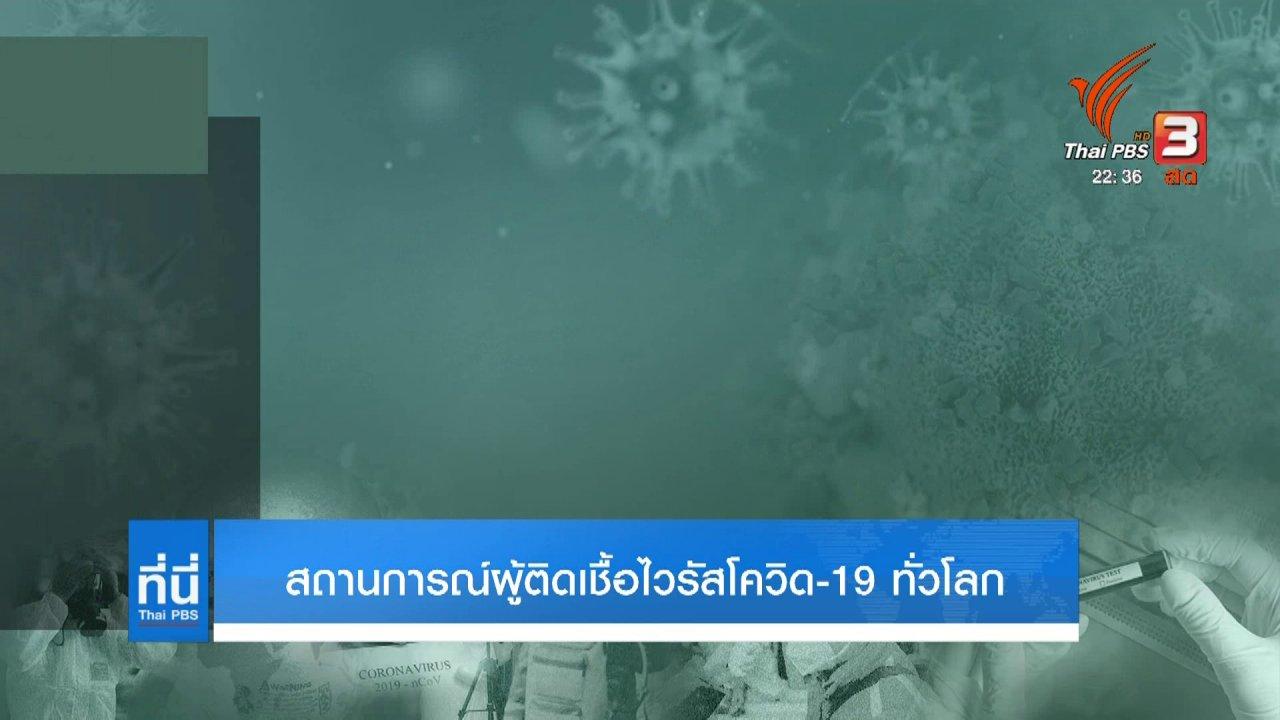 ที่นี่ Thai PBS - สถานการณ์ผู้ติดเชื้อไวรัสโควิด-19 ทั่วโลก